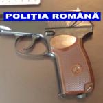 Flagrant după o ameninţare cu arma – Video